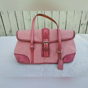 Coach pink tweed purse